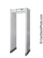 Metal detector door isolated