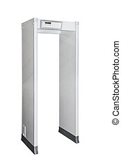 Metal detector door isolated included clipping path