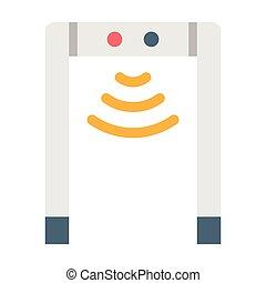 Metal detector flat illustration