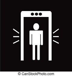 Metal detector icon illustration design