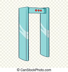 Metal detector icon in cartoon style