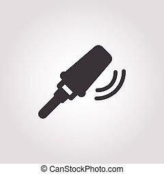 Metal detector icon on white background
