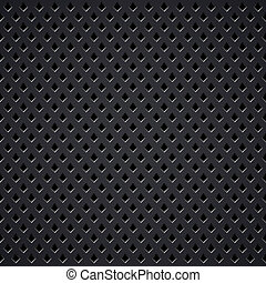 Metal diamond perforated grill