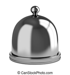 Metal dome isolated on white background. 3d render