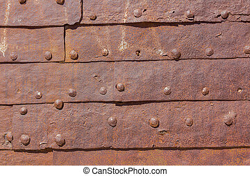 Metal door background