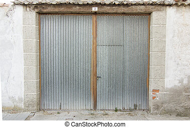 metal door garage access