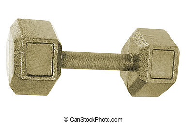 Metal Dumbbell isolated on white