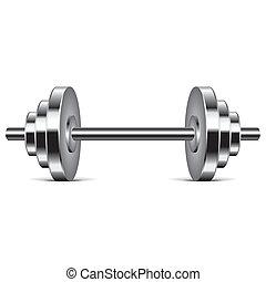 Metal dumbbell vector illustration - Metal dumbbell isolated...