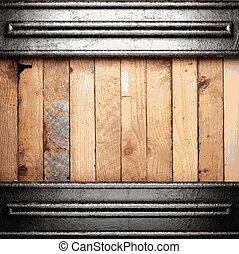 metal, e, madeira, fundo