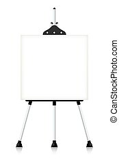 Metal easel isolated on white background. Vector illustration.