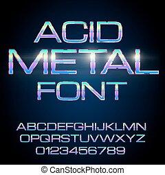 Metal Elegant Font - Elegant Acid Toxic Colored Thin Metal...