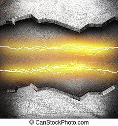 metal, elektryczny, tło, piorun