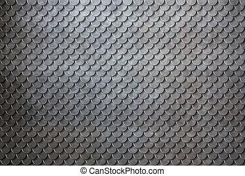 metal enferrujado, escalas, armadura, fundo, 3d, ilustração