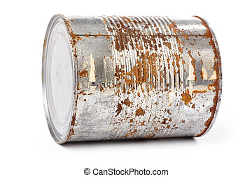 metal enferrujado, lata