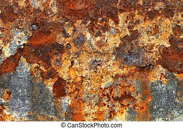 metal enferrujado, textura, 05
