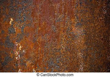 metal enferrujado, textura