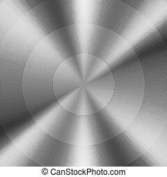 metal escovado, circular, fundo