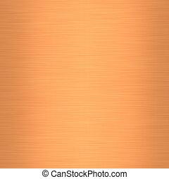 metal escovado, cobre