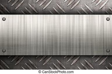 metal escovado, esquema
