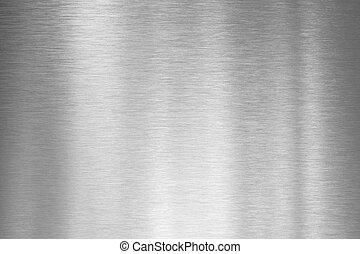 metal escovado, placa prata