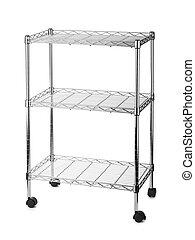 metal, estante, estantes