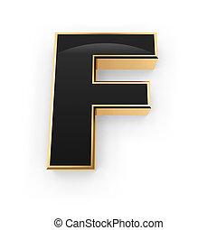 metal, f de carta