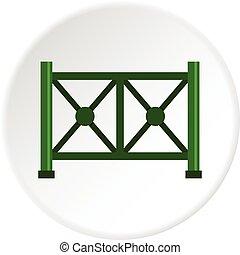 Metal fence icon circle