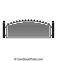 Metal fence icon, simple style.