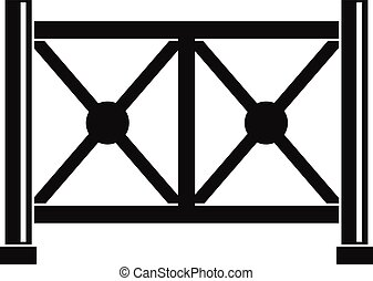 Metal fence icon, simple style