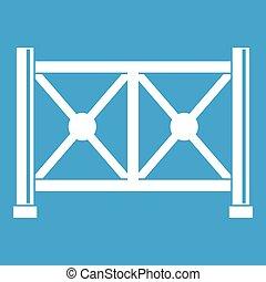 Metal fence icon white