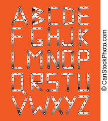 metal font - Original metal font in the style the designer...