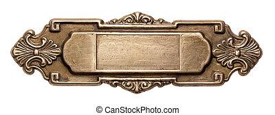 Metal frame - Vintage ornate metal frame, isolated.