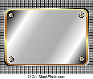 Metal frame with screws