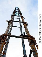 metal framework for concrete pouring