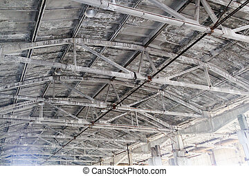 Metal framework of an iron roof