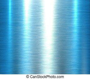 metal, fundo, textura, azul