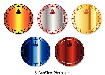 Metal Gambling Chips