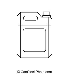 Metal gasoline canister icon, outline style