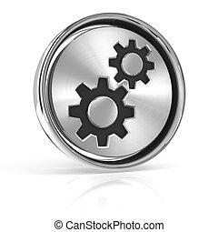 Metal gear icon