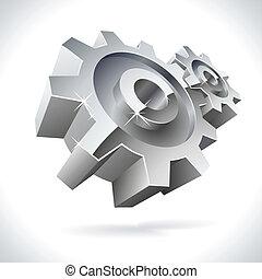 Metal gears shiny icon