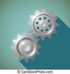 Metal gears. Stock illustration.