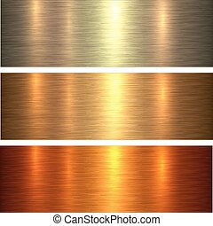 Metal gold texture background, golden brushed metallic...