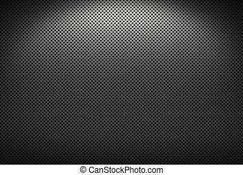 Black and gray metal grate with lighting effects
