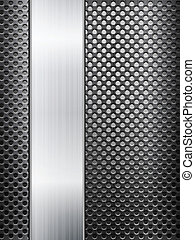 metal grid and sheet - Pattern of metal texture background....