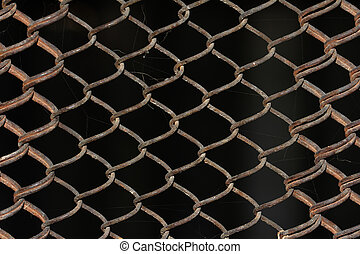 metal grid as a background