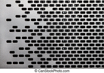 Background of an gray metal grid closeup