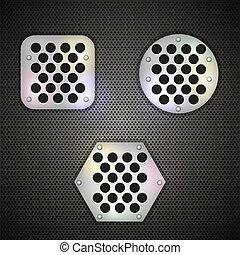 metal grid background. Vector illustration