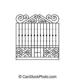 Metal Grid Fencing Design