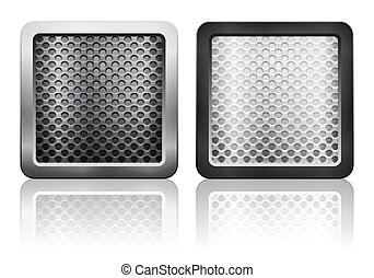 metal grid icon