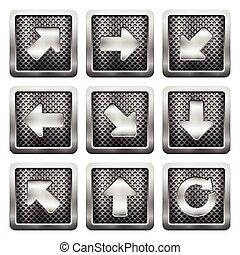 metal grid icons